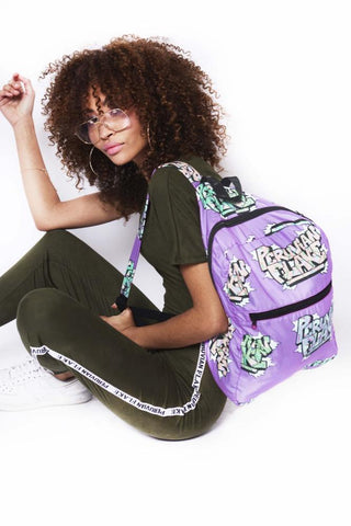 Grafitti Purple Backpack