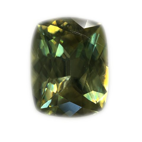 Sphene Gemstone Cushion Cut By Ben Kho