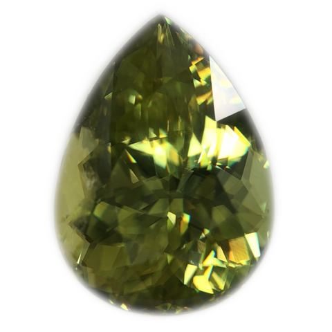 Sphene Gemstone Pear Shaped Cut By Ben Kho