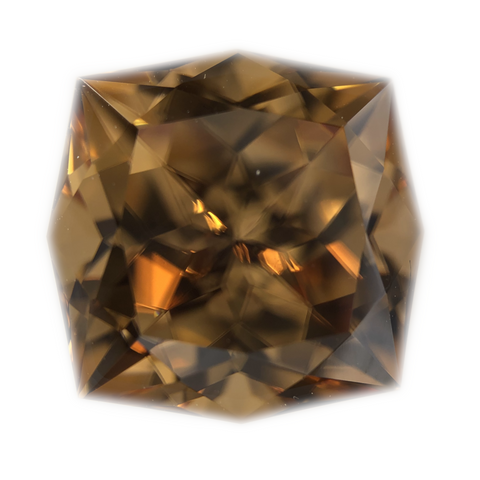 Orange Zircon Gemstone Fantasy Cushion Cut By Ben Kho