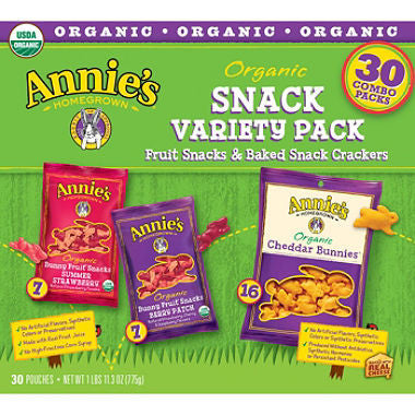 Annie's - Organic Variety Pack: Fruit Snacks & Baked Snack Crackers (30 ct)