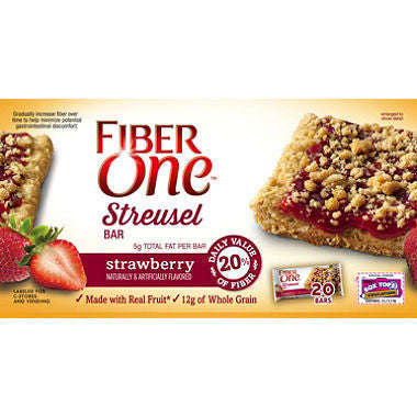 Fiber One - Strawberry Streusel Bar, 1.42oz (20 ct)