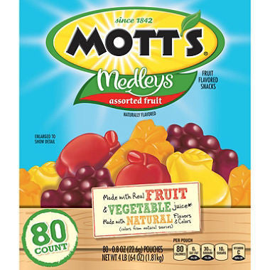 Mott's Medleys Assorted Fruit Snacks (80ct)