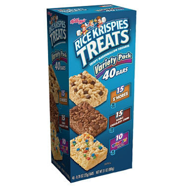 Kellogg's - Rice Krispies Treats Variety Pack, .78oz (40 ct)