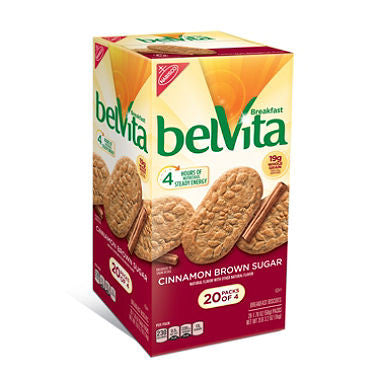 Nabisco - BelVita Brown Sugar Cinnamon Biscuits, 1.76oz (20 ct)