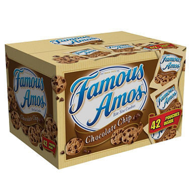 Famous Amos - Chocolate Chip Cookies, 2oz (42 ct)