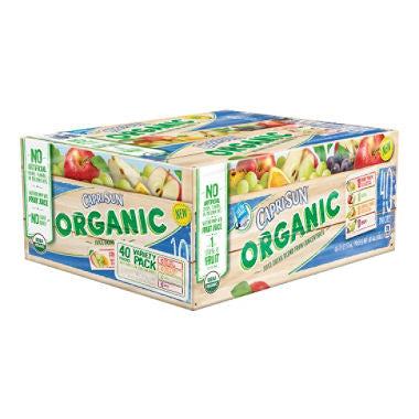 Capri Sun - Organic Fruit Juice Variety Pack, 6oz (40 ct)