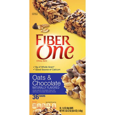 Fiber One - Oats & Chocolate Chewy Bars, 1.4oz (36 ct)