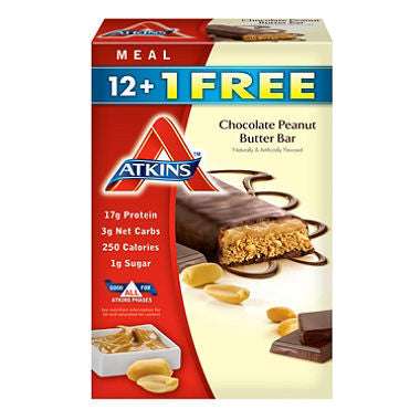 Atkins Advantage Chocolate Peanut Butter Bars (13ct)
