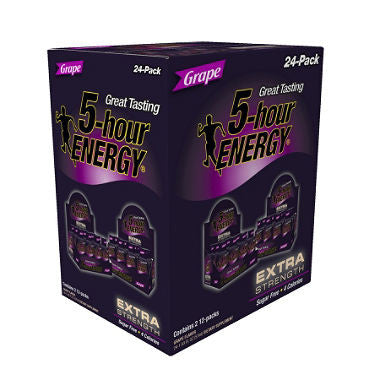 5-hour Energy Extra strength Grape, 1.93oz (24ct)