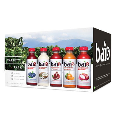 Bai5 Variety Pack, 18oz Bottles (15ct)