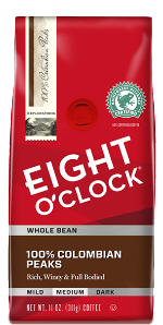 Eight O'Clock Coffee - Colombian Peaks Whole Bean 10ct / 2lb