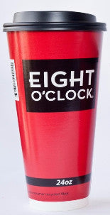 Eight O'Clock Coffee - Double Wall Insulated Paper Cups 500ct / 24oz