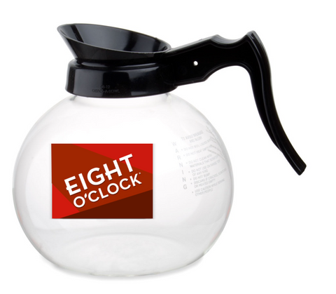 Eight O'Clock Coffee - 64oz Glass Coffee Pot