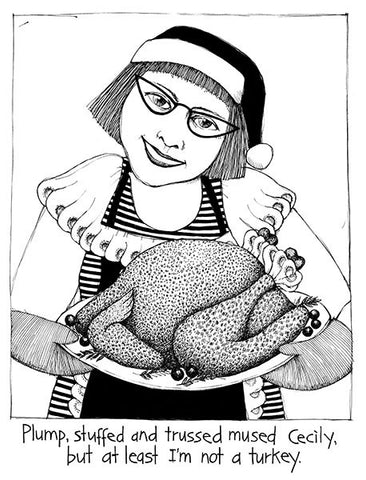 Cecily Tea Towel - Plump turkey