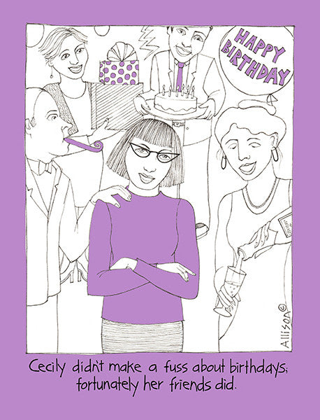 Birthday Fuss Cecily Card