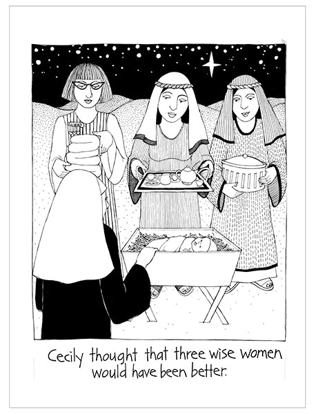 Cecily Tea Towel - Three wise women