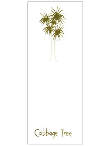 Cabbage Tree Bookmark
