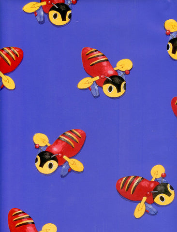 Buzzy bee blue wrap