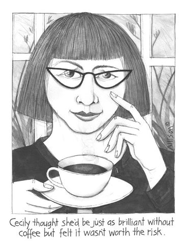Coffee Brilliance Cecily Card