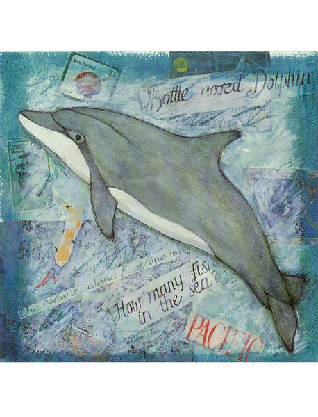 Dolphin Collage Card