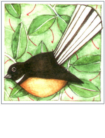 Fantail NZ bird gift card