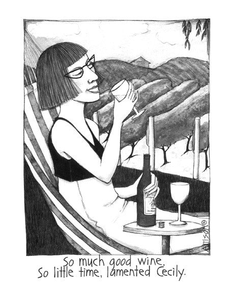 Cecily Tea Towel - Good wine