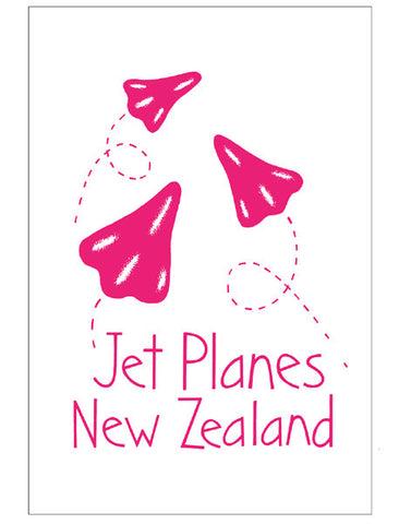 Tea Towel - Jet Planes (pink)