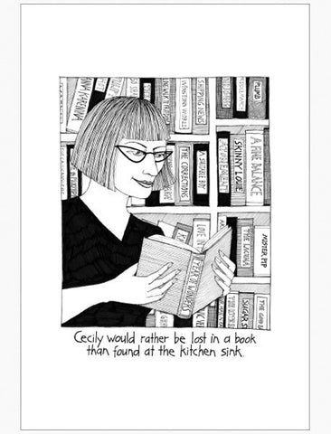 Cecily Tea Towel - Lost in a book