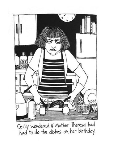 Cecily Tea Towel - Mother Theresa