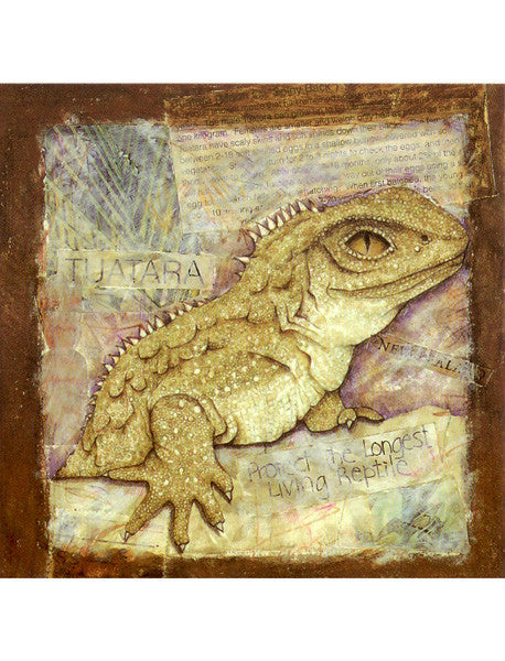 Tuatara Collage Card