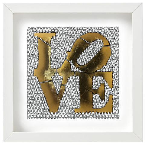 Framed 'Love Gold' - Print on Acrylic