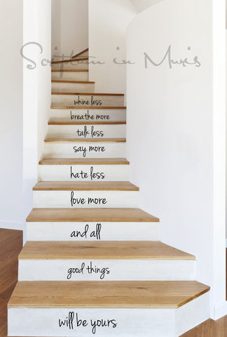 All Good Things - Stairs Decal