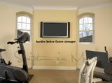 Harder Better Faster Stronger Exercise or Gym Room Vinyl Wall Decal