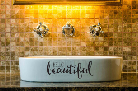 Hello Beautiful Vinyl Wall Decal