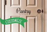 Customized Script Font Decal