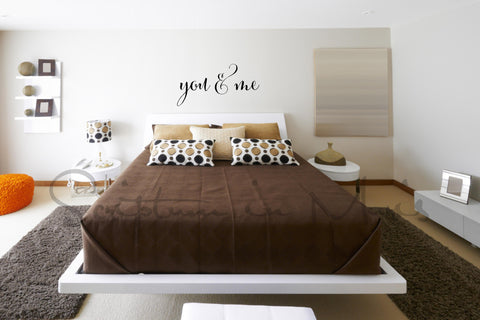 You & Me Bedroom Vinyl Decal