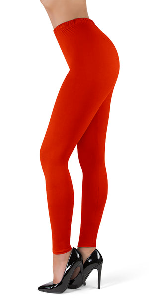 "High Waisted Full Length Leggings - 1"" Waistband"