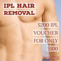 IPL Painless Hair Removal - $200 Voucher for only $100
