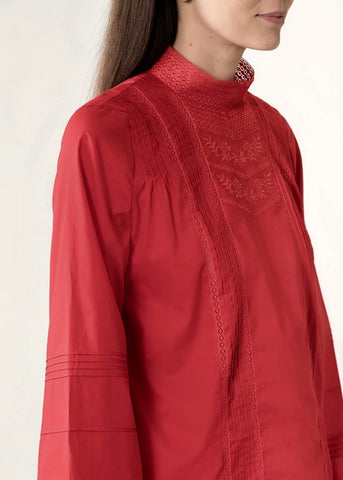 Vanessa Bruno Joia blouse in vermillon