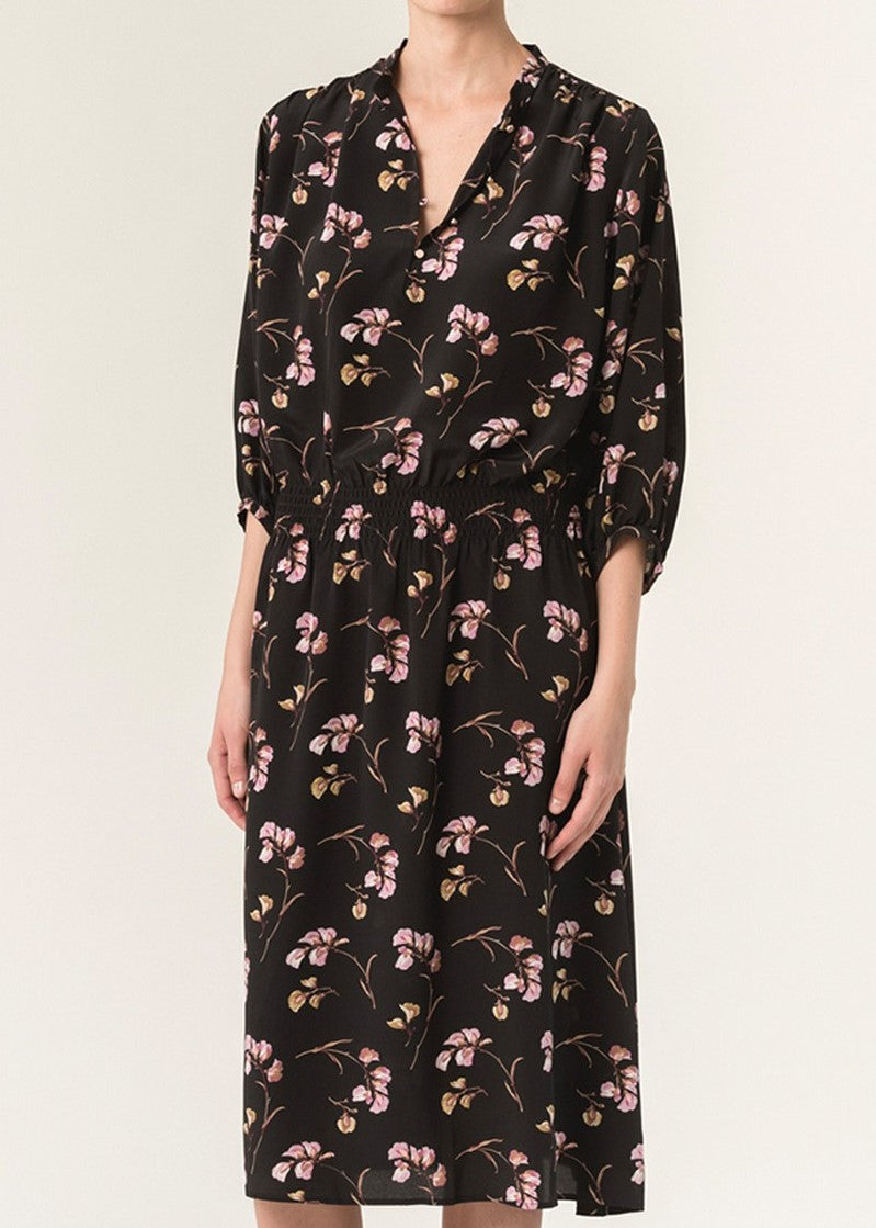 Vanessa Bruno floral print button front short sleeve dress