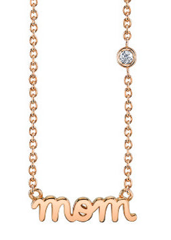 Shy by SE 'MOM' necklace rose gold