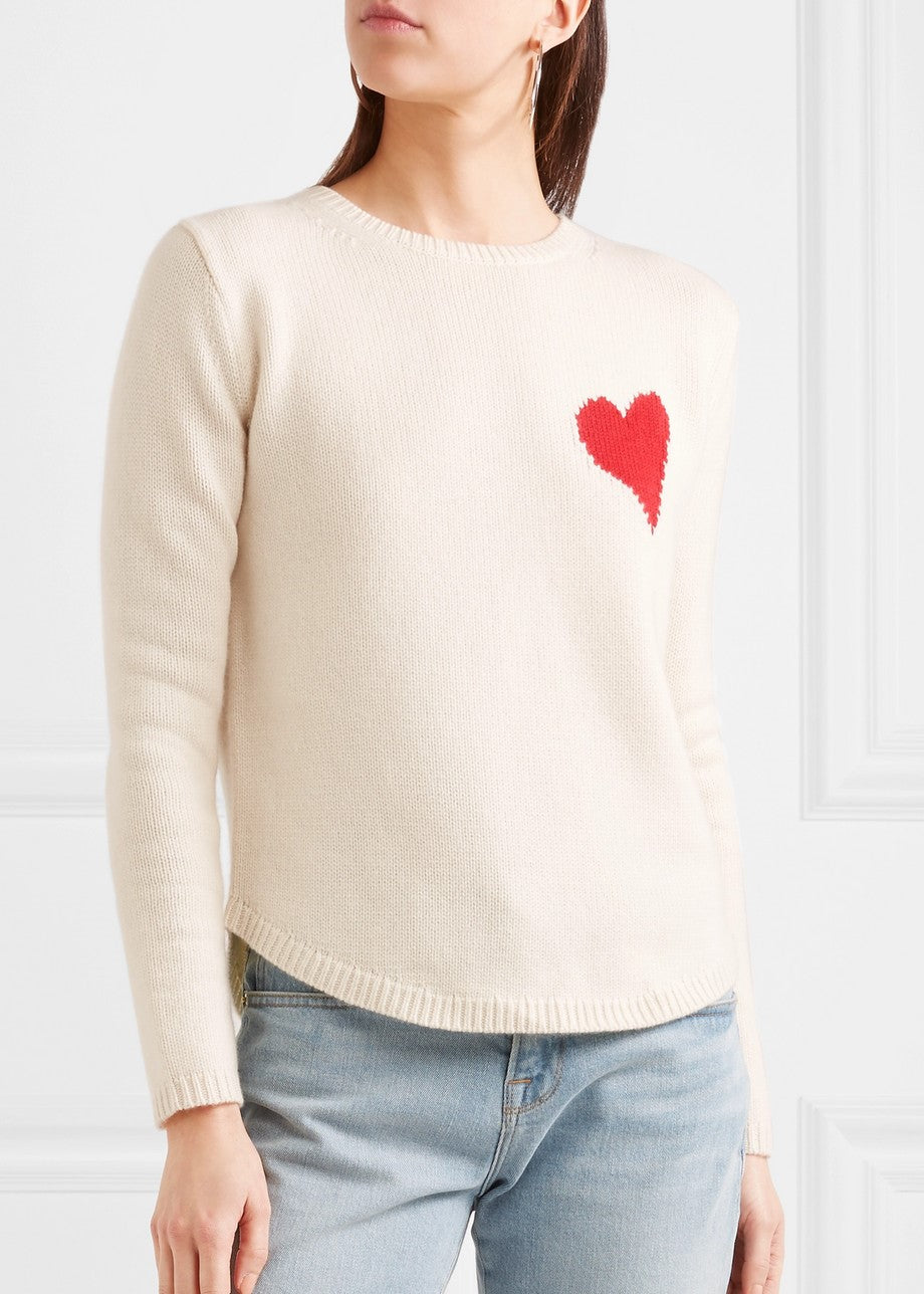 Chinti & Parter confetti heart sweater cream