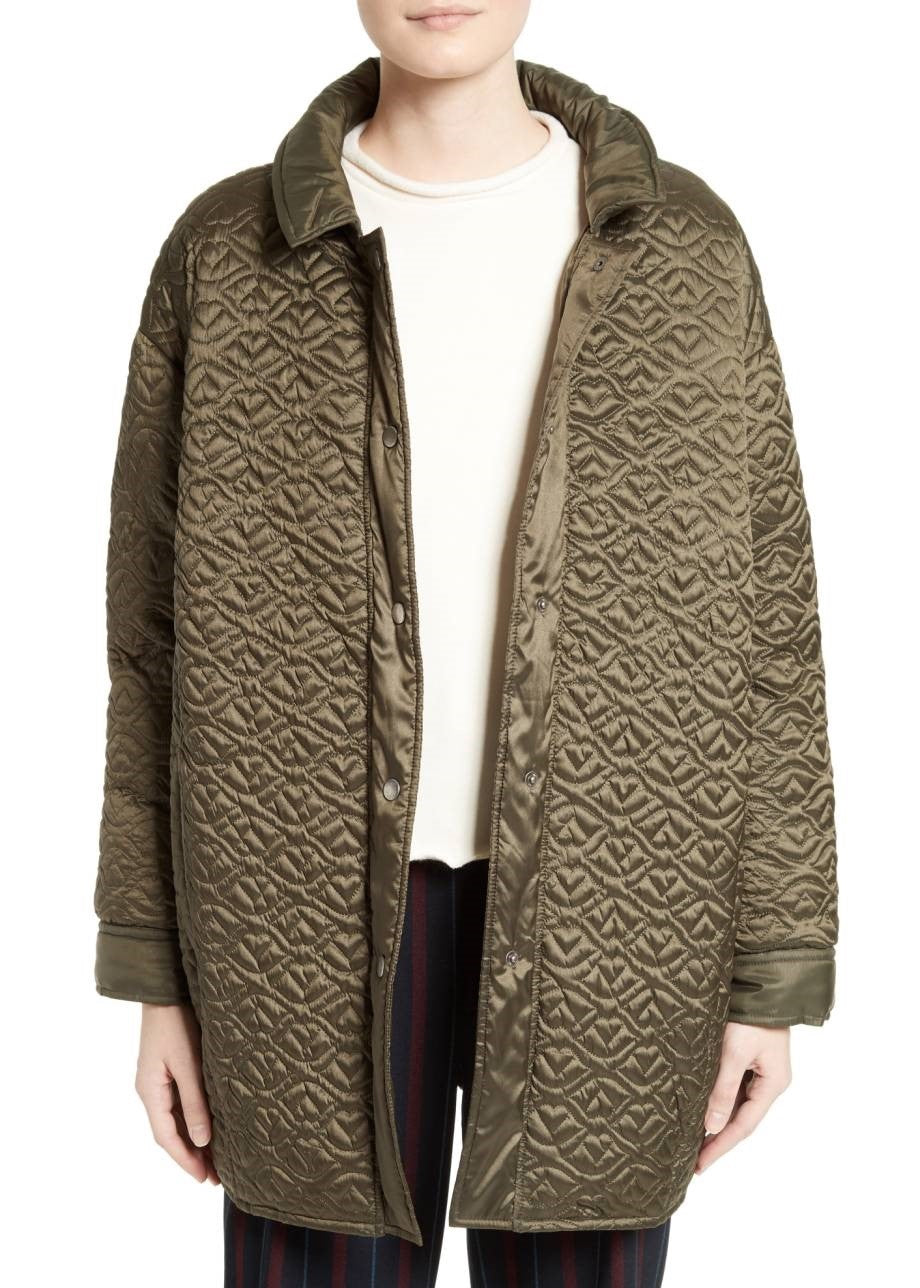 See by Chloe quilted coat army green