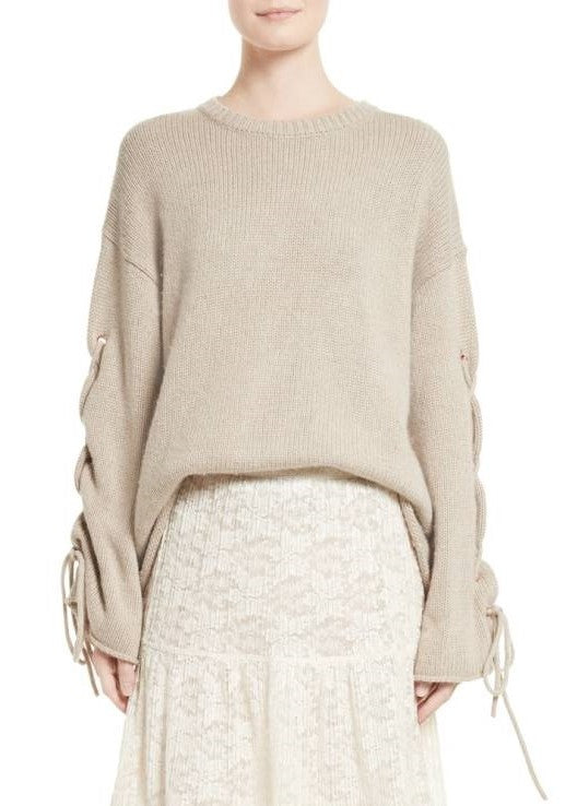 See by Choe tie up sleeve sweater birch