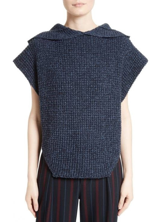 See by Chloe hooded pullover sweater navy