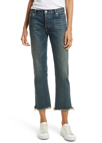 Nili Lotan boyfriend jean with raw hem walker wash