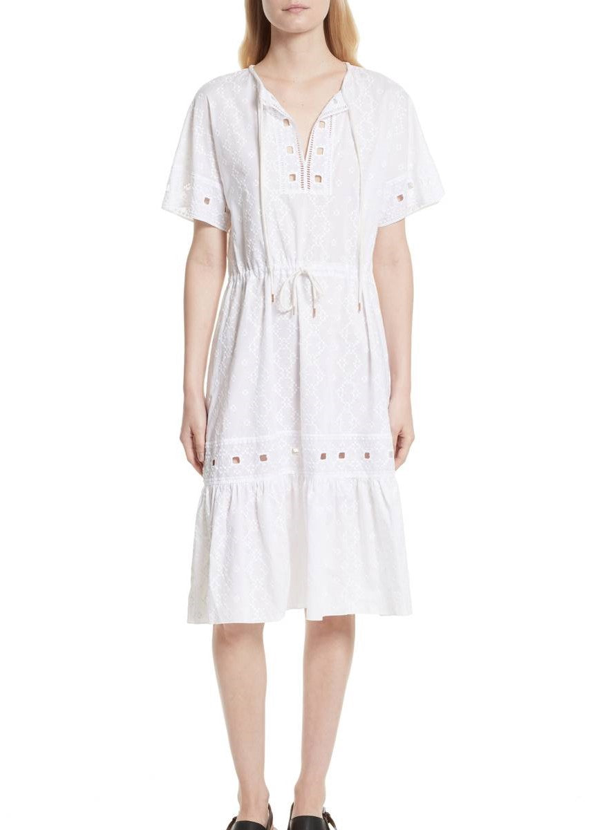 See by Chloe drawstring dress white