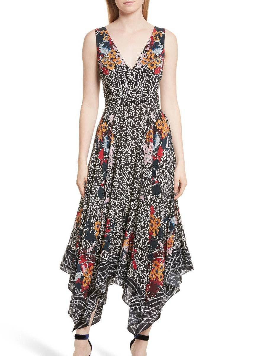 Saloni Zuri Dress Flower Print
