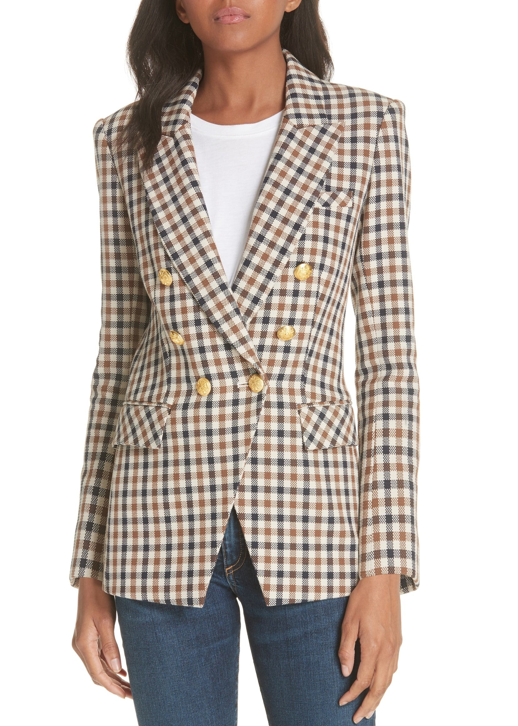 Veronica Beard Lonny dickey jacket in brown/navy
